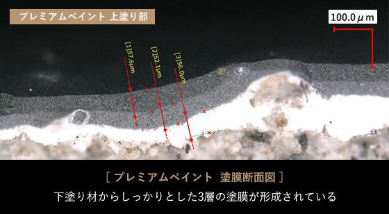 プレミアムペイント 塗膜断面図